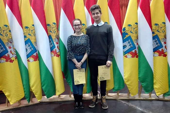 Molnár Alexandra és Szép Ábris dicséretben részesült