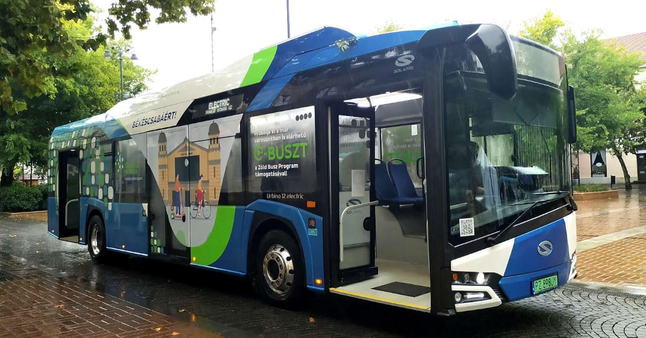 Elektromos busz Békéscsabán
